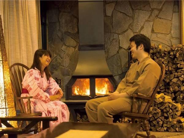 フロント/暖炉