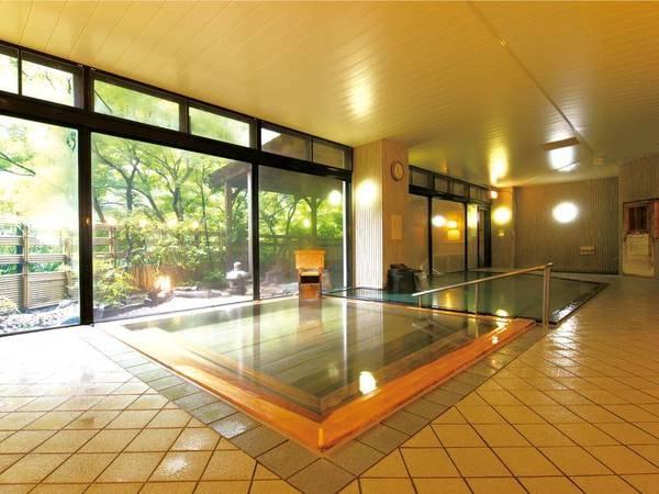 【大浴場】大浴場にはサウナも完備