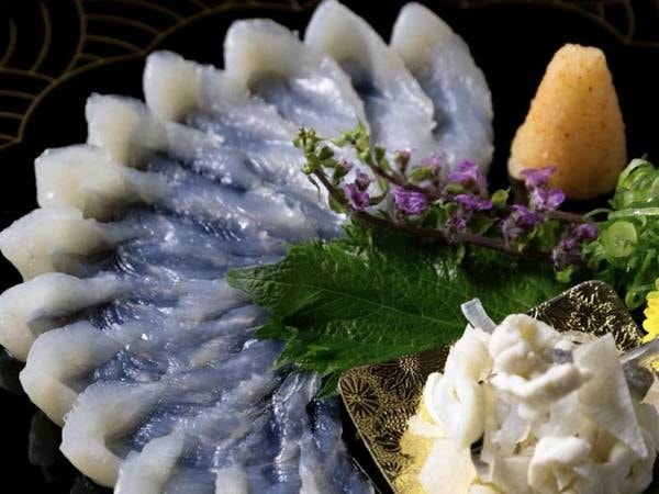 【料理一例】能登沖で水揚げされた能登ふぐを堪能できる