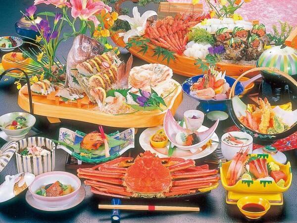 【夕食/例】人気食材が揃った鯛かにコース