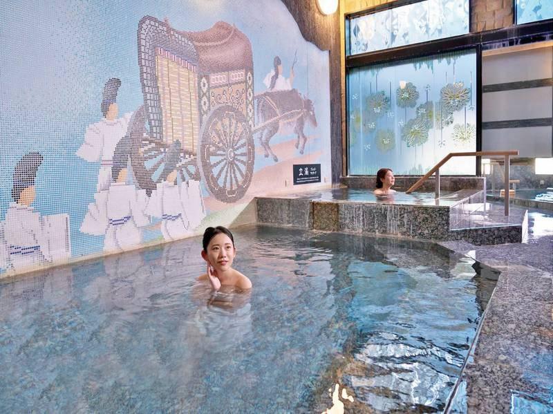 【平安の湯】寝湯や立ち湯があります!