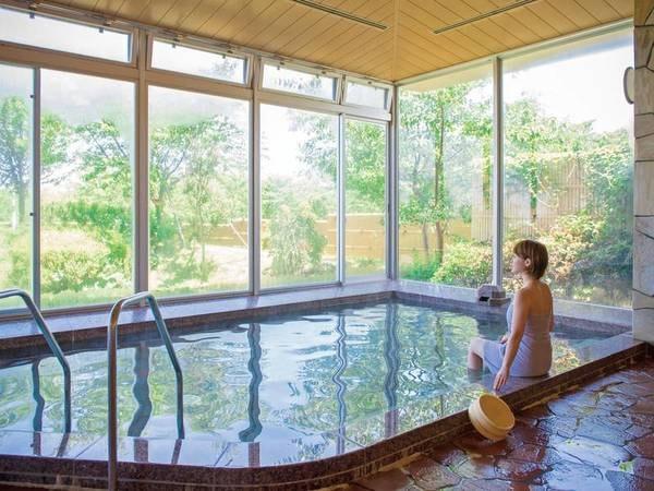 【大浴場】三国温泉は『美人の湯』肌にしっとりと水分を補給する作用がある