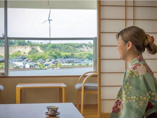 【部屋眺望/例】全室から北潟湖を望む