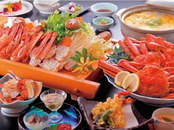 【カニ楽膳/例】冬の味覚「ずわい蟹」を満喫※写真は4名盛り