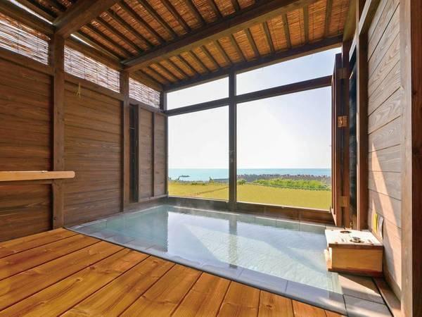 【大浴場】天然100%源泉かけ流しで景色も楽しめる