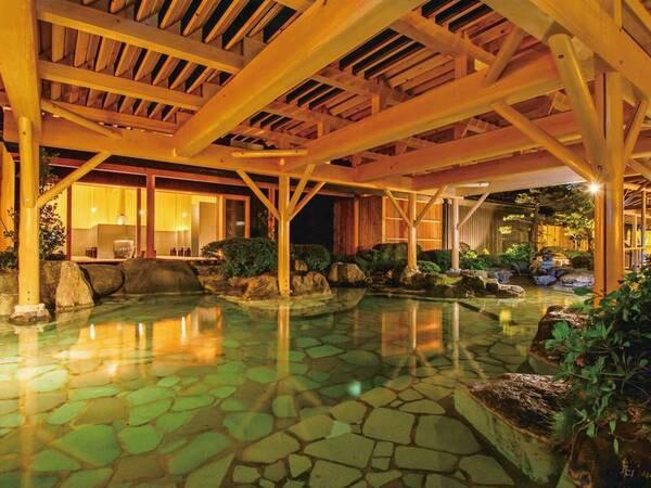 【殿方の湯/夢殿】北陸最大級の庭園露天風呂をご堪能ください