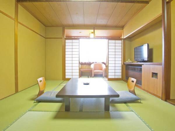 【客殿和室/一例】スタンダードな客殿和室、シャワーブースのみ・トイレ付