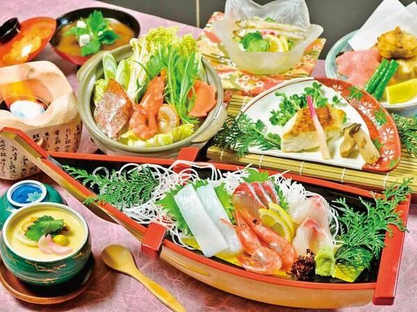 【夕食/例】舟盛りを豪華にひとり一舟ずつ!海の幸をゆっくり愉しみたい