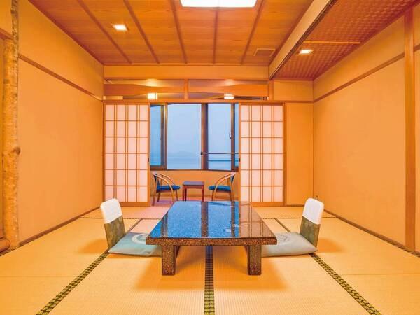 【客室/一例】海を望む8畳以上の和室へご案内