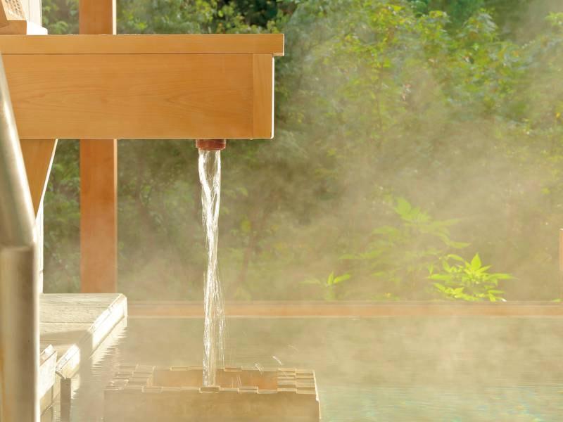 全国でも希少な自家源泉かけ流し100%。アルカリ性の美肌温泉です。