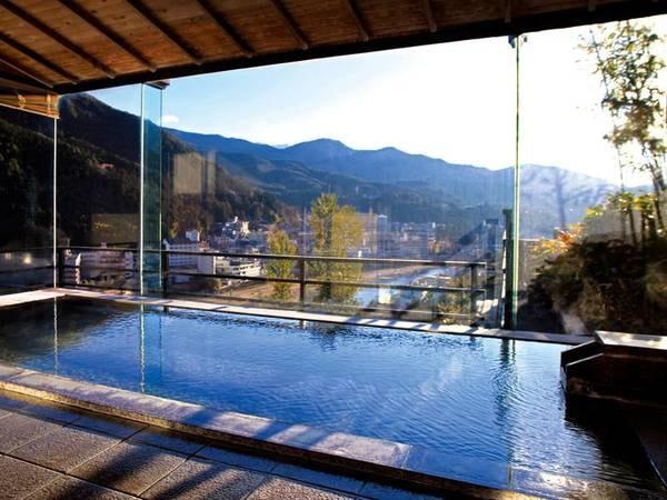 【大浴場】1枚の風景がを眺めるようなパノラマビュー
