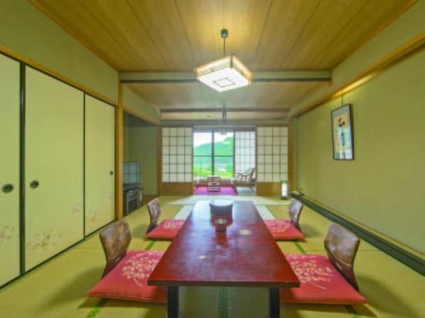 【12畳和室/例】広々12畳和室でゆったり。和の趣溢れる空間