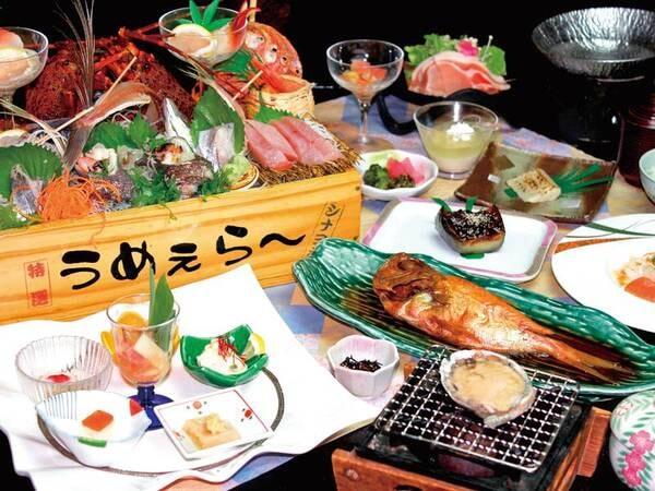 伊勢海老・地魚トロ箱盛&鮑!贅沢味覚
