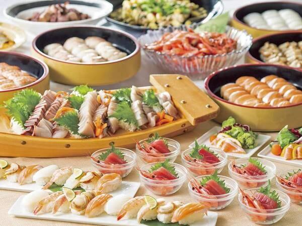 【夕食/例】お寿司にお刺身。海鮮メニューも食べ放題!