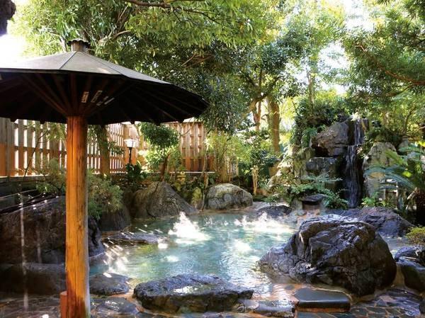 【音無の森 ホテル緑風園】自家源泉100%かけ流し!露天風呂の広さと泉質の良さは伊東温泉でも屈指と評判