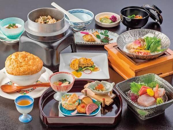【あわび付き!季節の会席/例】あわび料理やお造りなど旬のお料理を堪能