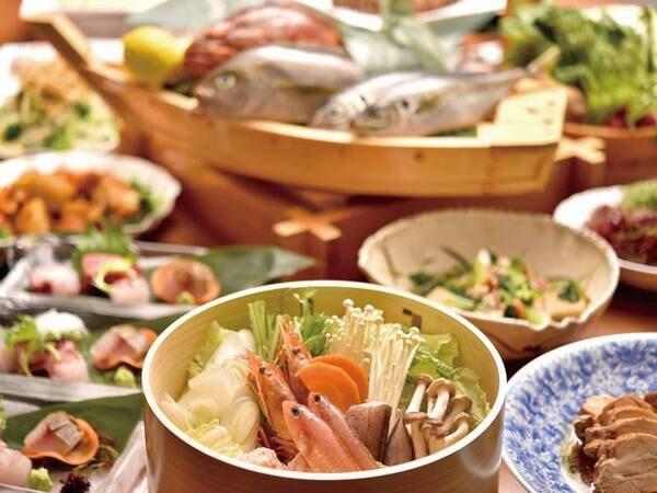 【夕食/例】伊豆の郷土料理・金目鯛煮付けなど名物料理がたくさん