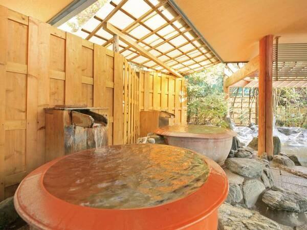【坪湯(一の湯)】タイ産の壺を使用した変わり種の湯船
