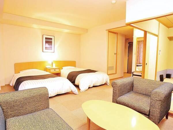 【和洋室/例】和室6畳+2ベッドのファミリーに人気な客室