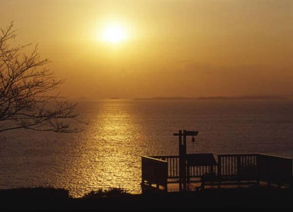 夕日が彩る丘