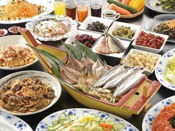 【朝食/例】干物バイキングが大好評!