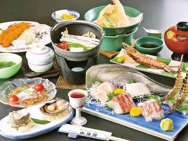 【磯香プラン/例】海の幸満載。海老や魚介などをふんだんに使った会席