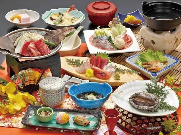 【夕食/例】あわびの踊り焼き付!東海園のオリジナル和会席