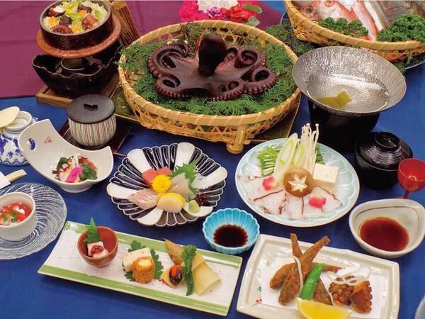 【地タコと季節の地魚大漁プラン/例】三河湾の地タコの刺身やタコしゃぶ、茹でタコが味わえる!