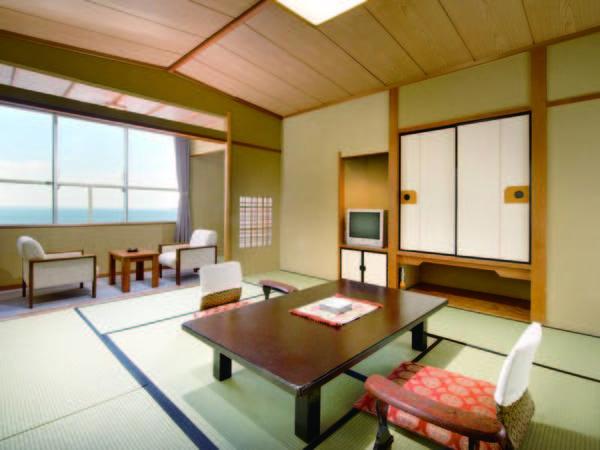 三河湾を一望しゆっくり寛げる10畳以上の景濤閣和室に宿泊/客室例