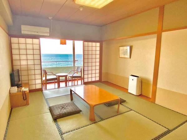 【和室/例】3・4階だがバルコニー付で海眺望は充分の10畳和室