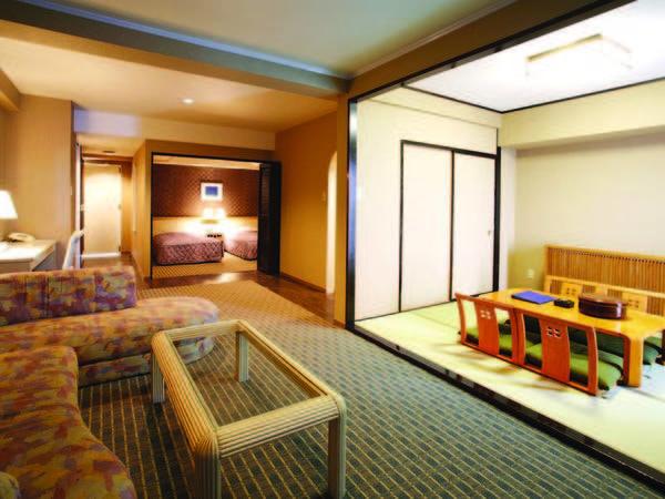 【客室/例】広々とした造りの57平米和洋室。海の眺めの良い9階以上を確約