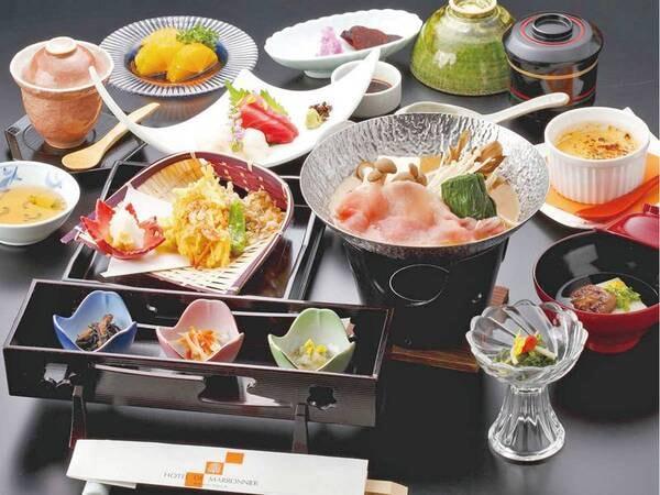 【山波会席/例】彩鮮やかな和会席料理  ※季節ごとで料理内容は変更
