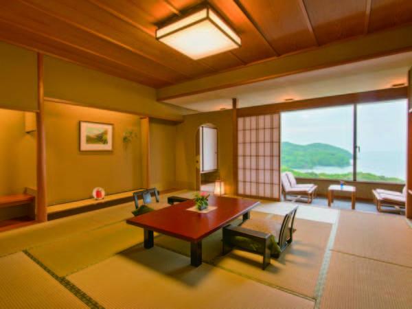 【海を望む和室/例】12.5畳和室+前室、広縁、お召し替えの間がついた合計61㎡