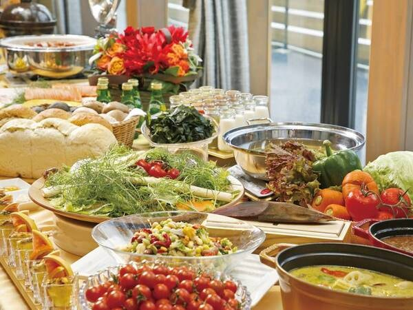 【朝食/例】志摩野菜たっぷりのビュッフェまたはセットメニュー