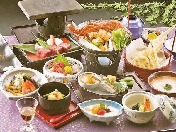 【松坂牛・伊勢海老を堪能!彩会席/例】松阪牛の陶板焼き、伊勢海老など三重の美味が詰まった会席