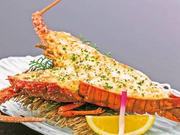 【伊勢海老の黄金焼き付会席の料理/例】伊勢海老をふっくら香ばしい黄金焼きで!
