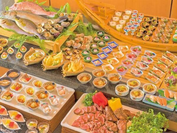【和洋中ブッフェ/例】海の幸を取り入れた約40種和洋中ブッフェ