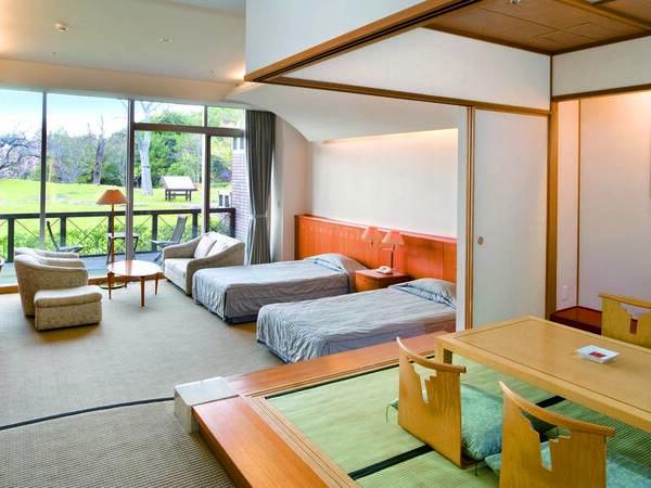 【客室/例】約66平米もの広さを誇る、洋間+和室の和洋室