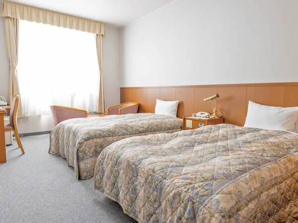 【デラックスツイン/例】最大3名まで利用可能のお部屋。2名一室がスタンダードツインと同料金なのでお得!(全室禁煙)