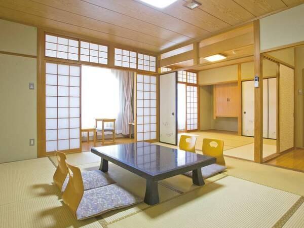 【和室/例】10畳+6畳の広々とした二間和室にご案内