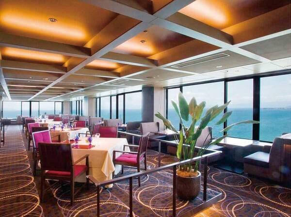 【洋食コース食事会場】ホテル最上階のフレンチレストラン!琵琶湖を眺めながら寛ぐひと時