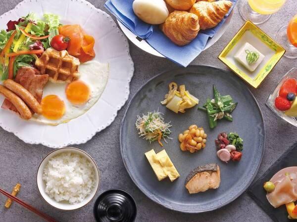 【朝食/一例】開放的なオープンキッチンで、滋賀の食を満喫していただけるビュッフェ形式で頂く朝食
