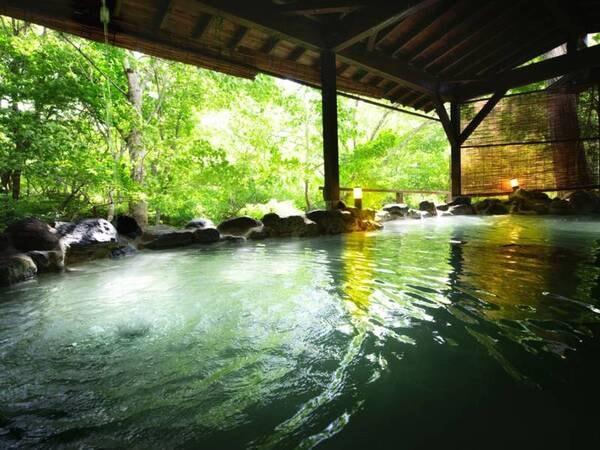 かわせみの湯:大露天風呂/湯量豊富な温泉に心も体も癒される