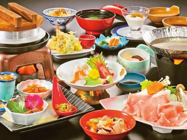 麓山高原豚しゃぶしゃぶ付き和食膳/一例