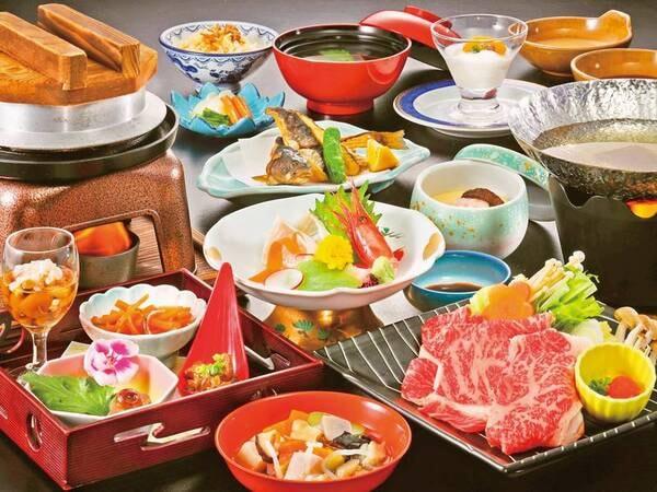 福島牛しゃぶしゃぶ付き和食膳/一例