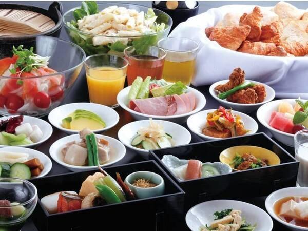 朝食は和食膳+セミバイキングをご用意/一例