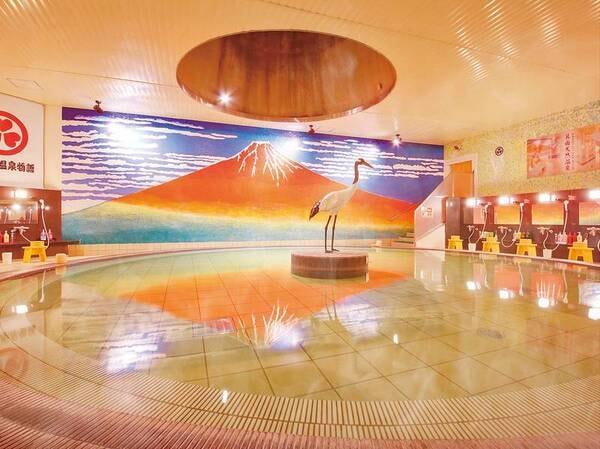 赤富士風呂(スパーガーデン)