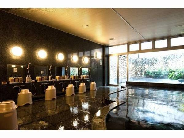 【大浴場】大浴場 泉質:ナトリウム・マグネシウム塩化物泉 効能:神経痛・筋肉痛・関節痛など