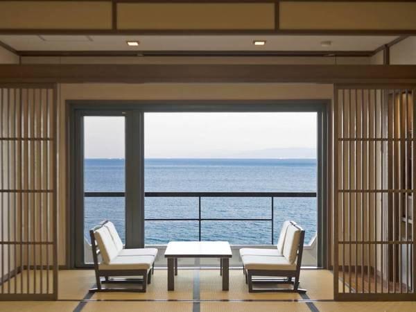 【5階以上リニューアル和室/例】窓の外は大海原が広がります