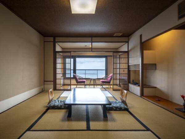【【最上階】夕なぎフロア/例】雄大な海景色を眺めながら寛ぐ